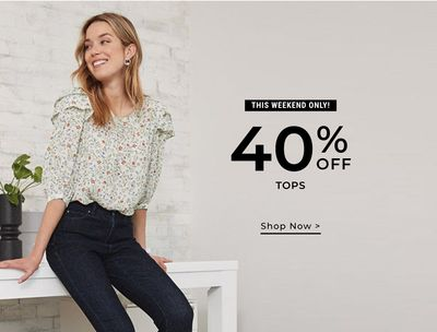 RW & Co Canada Mid-Season Sale: Save up to 60% Off + an EXTRA 30% Off Sale Styles + 40% off Tops