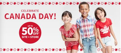 Carter's OshKosh B'Gosh Canada Day Sale: Save up to 50% off Red, White & Maple Leaf + More!