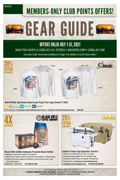 Cabela's Weekly Ad Flyer July 1 to July 31