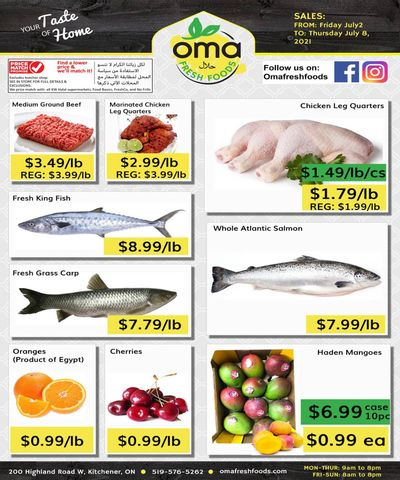 Oma Fresh Foods Flyer July 2 to 8