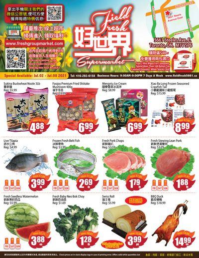 Field Fresh Supermarket Flyer July 2 to 8