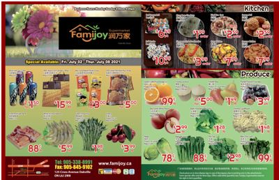 Famijoy Supermarket Flyer July 2 to 8
