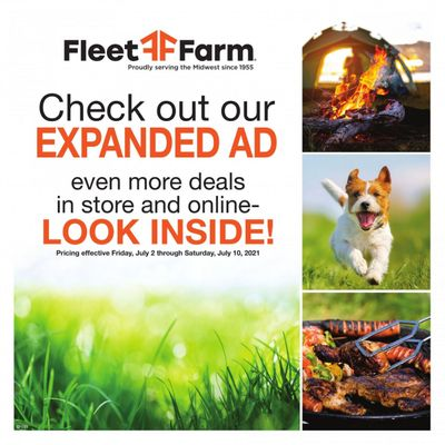 Fleet Farm (IA, MN, ND, WI) Weekly Ad Flyer July 2 to July 10