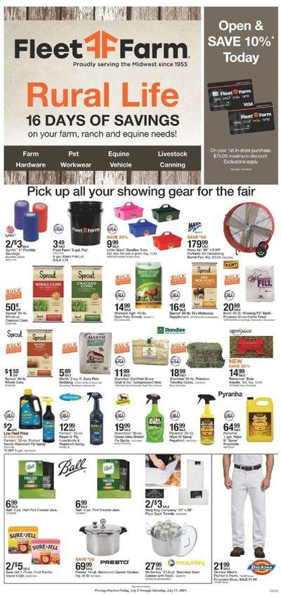 Fleet Farm (IA, MN, ND, WI) Weekly Ad Flyer July 2 to July 17