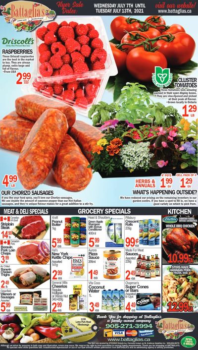 Battaglia's Marketplace Flyer July 7 to 13