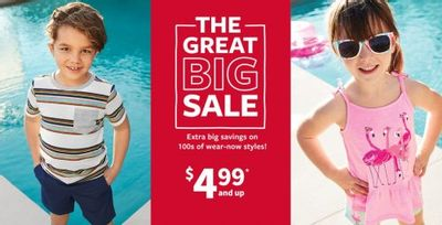Carter's OshKosh B'gosh Canada The Great Big Sale: Extra Big Savings on 100s of Wear-Now Styles + More