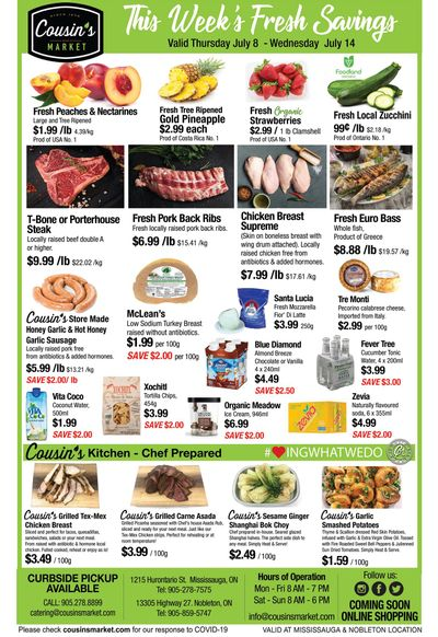 Cousin's Market Flyer July 8 to 14