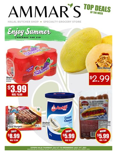 Ammar's Halal Meats Flyer July 8 to 14