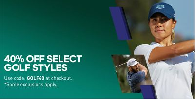 Adidas Canada Sale: 40% off Select Golf Styles, with Coupon Code