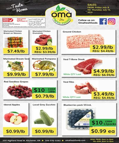 Oma Fresh Foods Flyer July 9 to 15