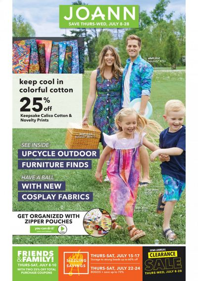 JOANN Weekly Ad Flyer July 8 to July 28