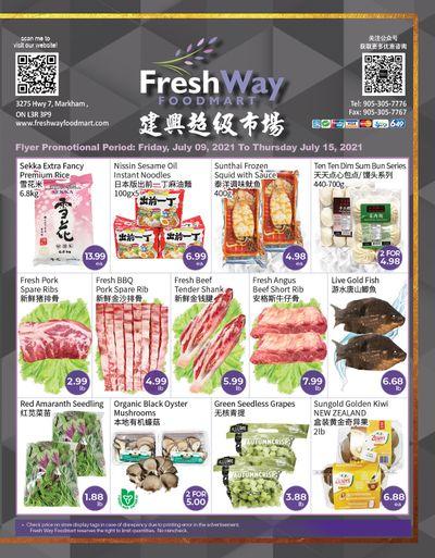 FreshWay Foodmart Flyer July 9 to 15