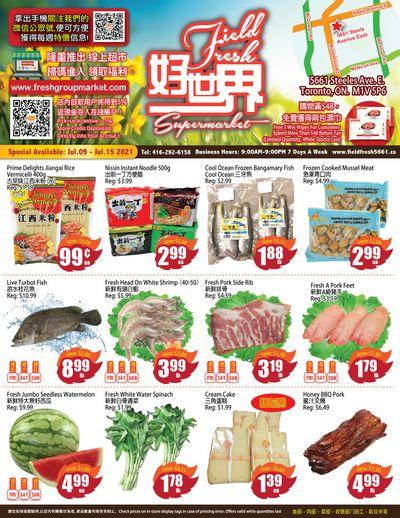 Field Fresh Supermarket Flyer July 9 to 15