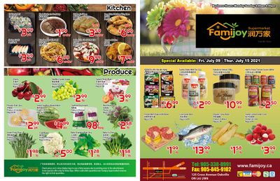 Famijoy Supermarket Flyer July 9 to 15