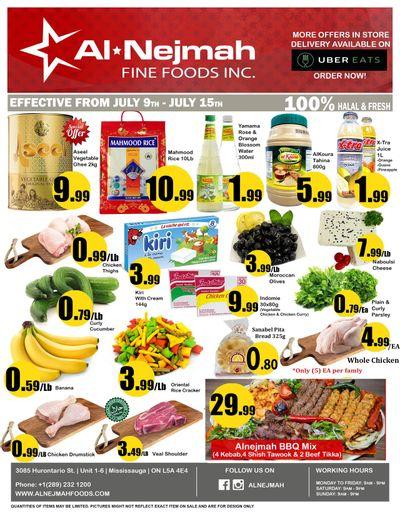Alnejmah Fine Foods Inc. Flyer July 9 to 15