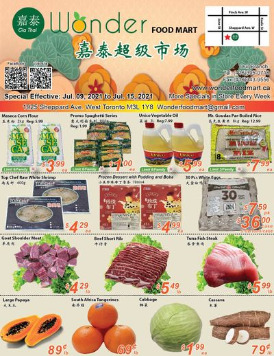 Wonder Food Mart Flyer July 9 to 15