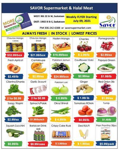 Savor Supermarket Flyer July 9 to 15
