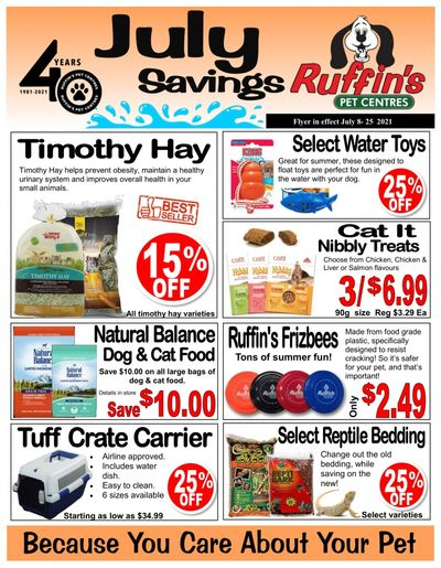 Rufiin's Pet Centre Flyer July 8 to 25