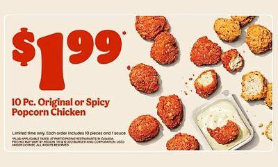 Popcorn Chicken! at Burger King