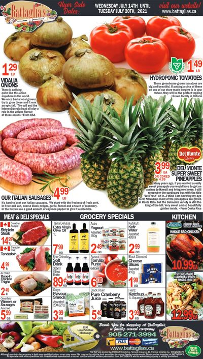 Battaglia's Marketplace Flyer July 14 to 20