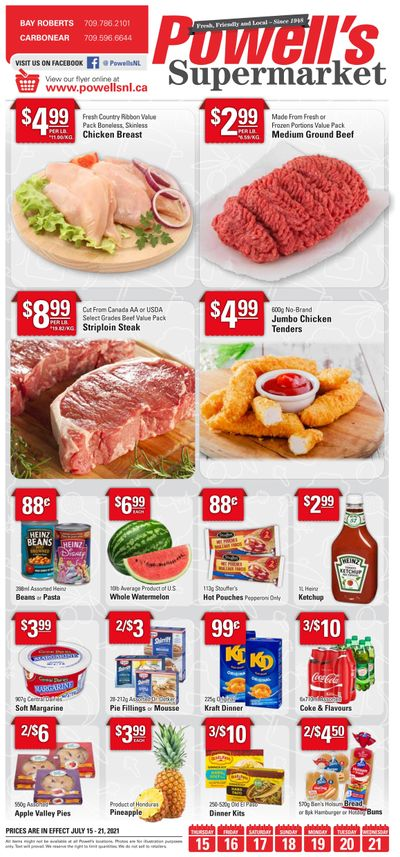 Powell's Supermarket Flyer July 15 to 21