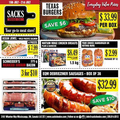 Sacks Food Co. Flyer July 15 to 21