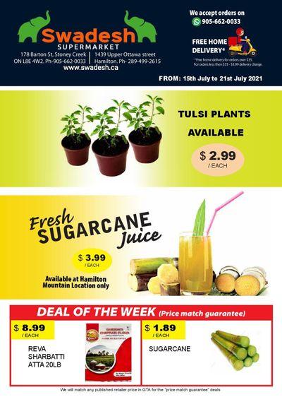 Swadesh Supermarket Flyer July 15 to 21