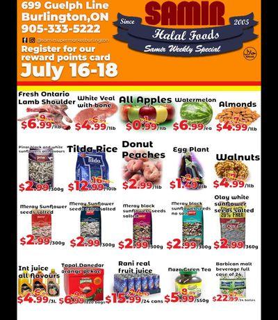 Samir Supermarket Flyer July 16 to 18