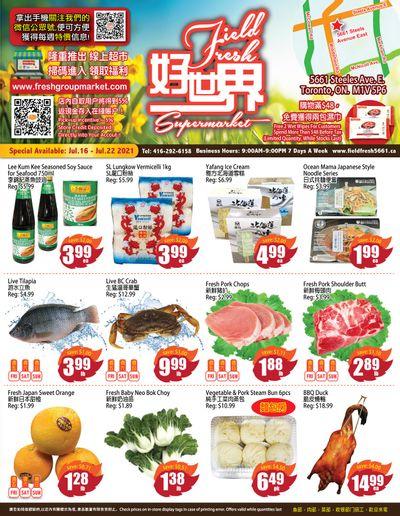 Field Fresh Supermarket Flyer July 16 to 22