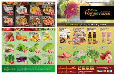 Famijoy Supermarket Flyer July 16 to 22