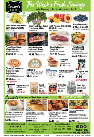 Cousin's Market Flyer July 15 to 21