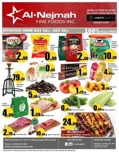 Alnejmah Fine Foods Inc. Flyer July 16 to 22