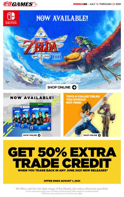 EB Games Flyer July 16 to 22