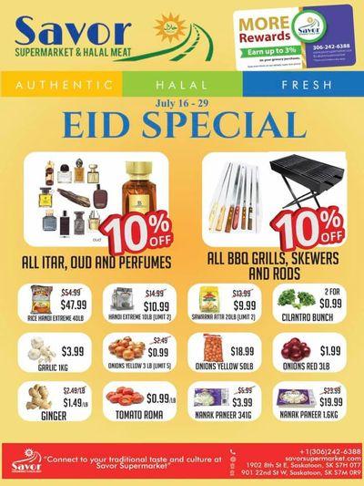 Savor Supermarket Flyer July 16 to 29