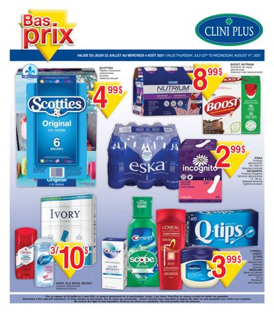 Clini Plus Flyer July 22 to August 4