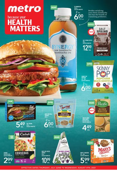 Metro (ON) Your Health Matters Flyer July 22 to August 4