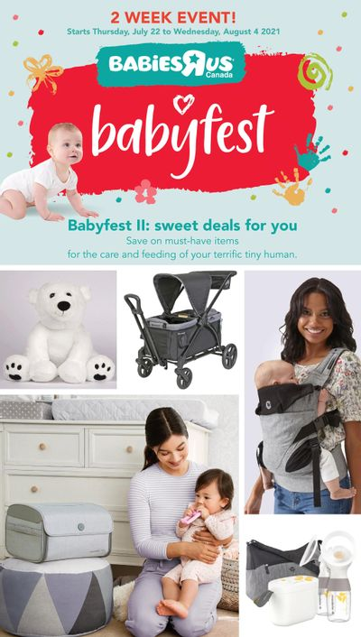Babies R Us BabyFest Flyer July 22 to August 4
