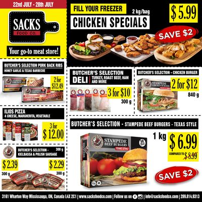 Sacks Food Co. Flyer July 22 to 28