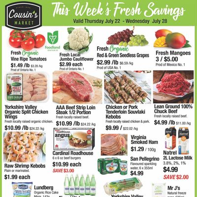 Cousin's Market Flyer July 22 to 28
