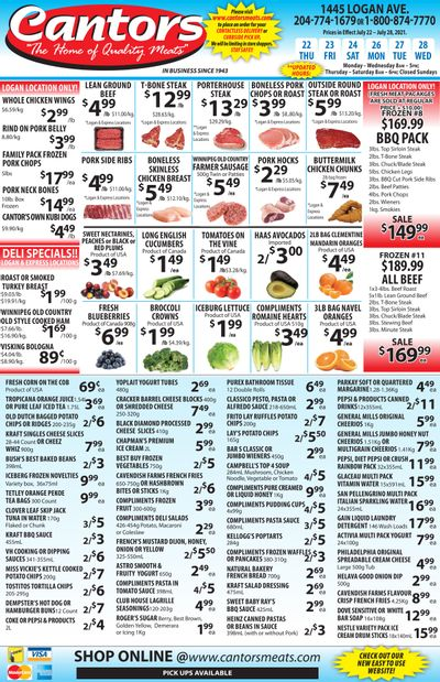 Cantor's Meats Flyer July 22 to 28