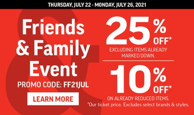 Sport Chek Canada Friends & Family Event: Save 10% to 25% Off Using Promo Code