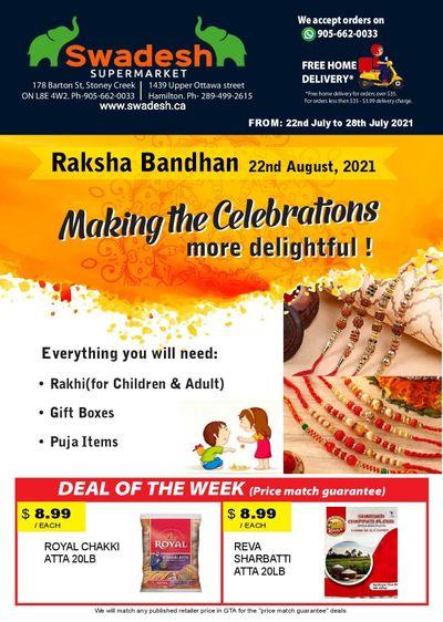 Swadesh Supermarket Flyer July 22 to 28