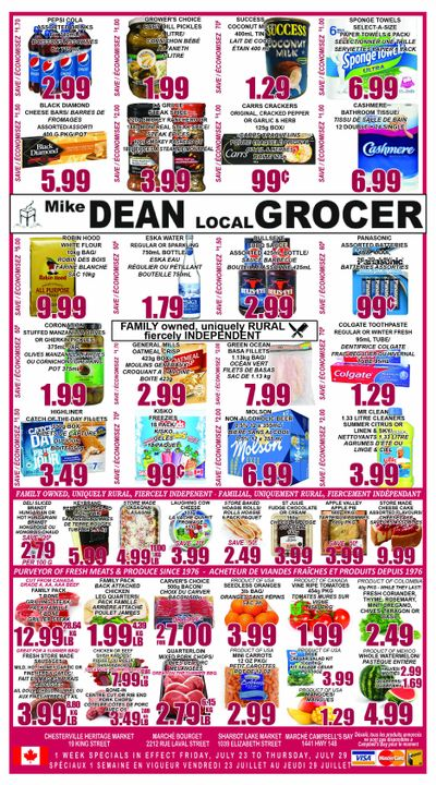 Mike Dean's Super Food Stores Flyer July 23 to 29