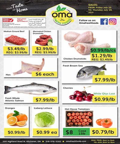 Oma Fresh Foods Flyer July 23 to 29