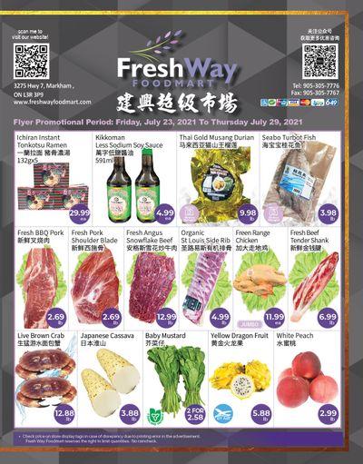 FreshWay Foodmart Flyer July 23 to 29
