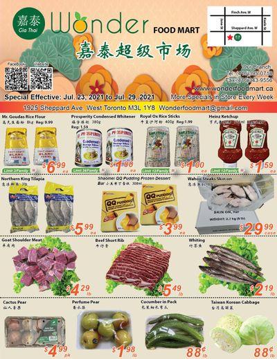 Wonder Food Mart Flyer July 23 to 29