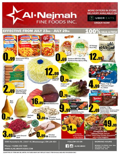 Alnejmah Fine Foods Inc. Flyer July 23 to 29