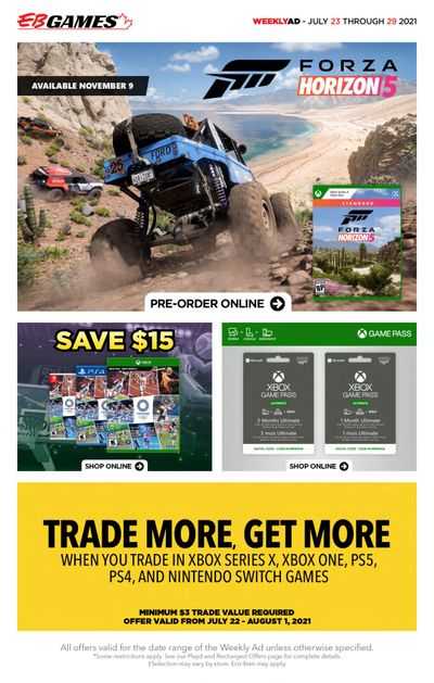 EB Games Flyer July 23 to 29