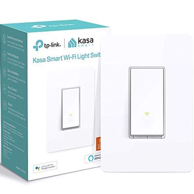 Kasa Smart Light Switch by TP-Link (HS200) - In-Wall Installation, Single Pole, Neutral Wire Required, 2.4GHz WiFi Light Switch Works with Alexa and Google Assistant, Not Dimmer Switch, No Hub Required, UL Certified, 1-Pack $14.99 (Reg $22.99)