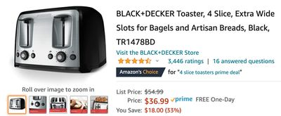 Amazon Canada Deals: Save 33% on BLACK+DECKER Toaster + 25% on Adidas Womens Hoodie + More Offers